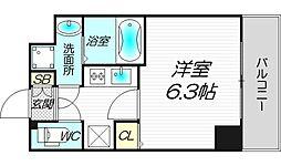 スワンズシティ堺筋本町[8階]の間取り