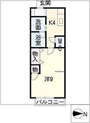 コーポ大福[2階]の間取り