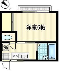 タウンハイツ新子安[2階]の間取り
