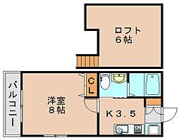 リバーフェアリー吉塚[1階]の間取り