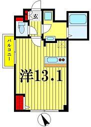 東武伊勢崎線 東向島駅 徒歩7分の賃貸マンション 2階ワンルームの間取り