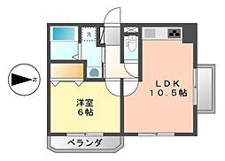 グリーンコーポ富士見[7階]の間取り