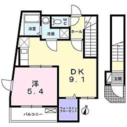 西武新宿線 下井草駅 徒歩4分の賃貸アパート 2階1LDKの間取り