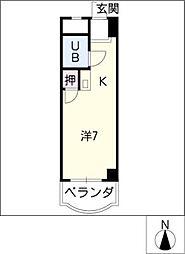 ベルメゾンNARUMI[6階]の間取り