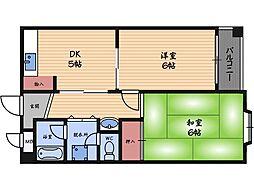 メゾン阪下[2階]の間取り