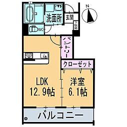 新築フィオーレ[104号室]の間取り