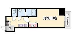 エクセル神戸アーバンヒルズ 5階1Kの間取り