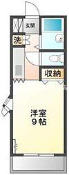 Studio Enchate公園前[2階]の間取り