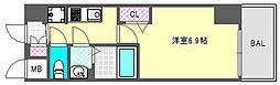 プレサンス阿波座駅前 10階1Kの間取り