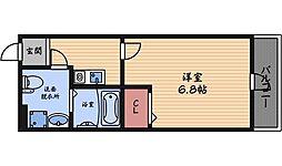 レジア西立花[3階]の間取り