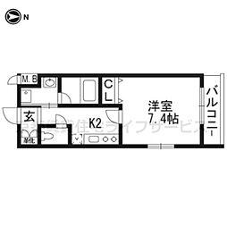 ベラジオ京都壬生WEST GATE101[1階]の間取り