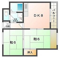 グランドール1番館[3階]の間取り