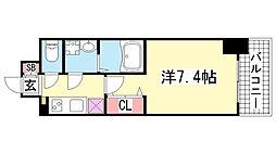 レジュールアッシュ神戸元町[8階]の間取り