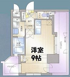 アクタス薬院II[4階]の間取り
