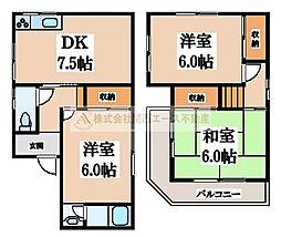 [一戸建] 大阪府堺市東区南野田 の賃貸【/】の間取り