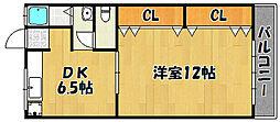 兵庫県明石市野々上1丁目の賃貸マンションの間取り