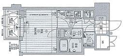Osaka Metro御堂筋線 梅田駅 徒歩13分の賃貸マンション 13階1Kの間取り