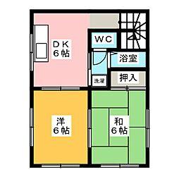 [テラスハウス] 岡山県岡山市北区大安寺中町 の賃貸【/】の間取り