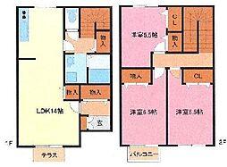 [テラスハウス] 埼玉県さいたま市緑区道祖土4丁目 の賃貸【/】の間取り
