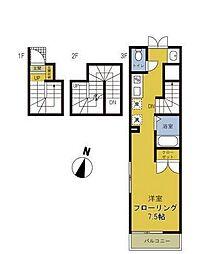 東京都品川区南品川5丁目の賃貸アパートの間取り