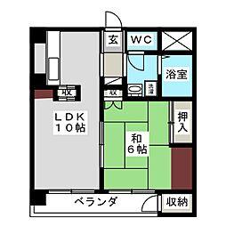 マンション稲元[2階]の間取り
