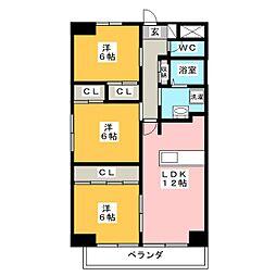 パークサイド雁宿1号館[4階]の間取り