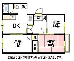 クレスト篠籠田II[2階]の間取り