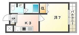 松尾ハイツ[1階]の間取り
