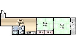 第2スプリングマンション[403号室]の間取り
