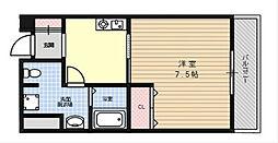 大阪府茨木市沢良宜東町の賃貸マンションの間取り
