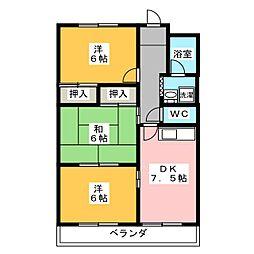 シャトーカナデ[3階]の間取り
