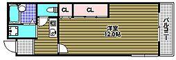 メゾンアルカディア金剛[3階]の間取り