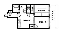 マッセ新大阪ハイツ旧館[5階]の間取り