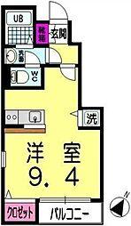 東京メトロ有楽町線 小竹向原駅 徒歩5分の賃貸アパート 1階ワンルームの間取り