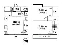 [テラスハウス] 神奈川県横浜市港南区下永谷3丁目 の賃貸【/】の間取り