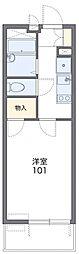 東京都八王子市南町の賃貸アパートの間取り