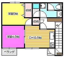 グレイスフル中井2階Fの間取り画像