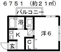 エスポワール21[202号室号室]の間取り