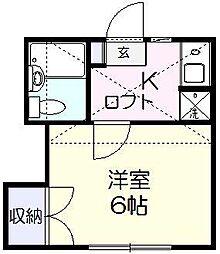 ハイム上本郷[1階]の間取り