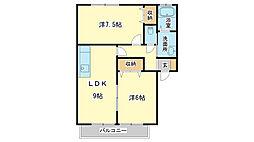 リッツハウスM&R[1階]の間取り