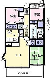 ロイヤルパークマンション特優賃[8階]の間取り
