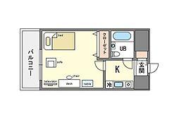 家具、家電付ラ・レジダンス・ド・レーヌ A[13階]の間取り