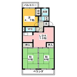 コンフォートウンノ[3階]の間取り