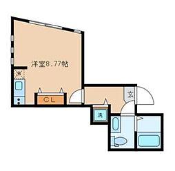 JR中央本線 吉祥寺駅 徒歩13分の賃貸アパート 1階ワンルームの間取り