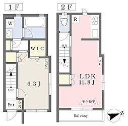 東武東上線 下赤塚駅 徒歩7分の賃貸アパート 1階1LDKの間取り