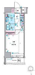 都営新宿線 馬喰横山駅 徒歩3分の賃貸マンション 3階1Kの間取り