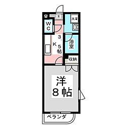 二丁目マンション1[1階]の間取り