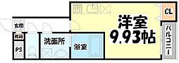 JR東北本線 東仙台駅 徒歩6分の賃貸アパート 1階ワンルームの間取り