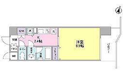 東京都千代田区四番町の賃貸マンションの間取り