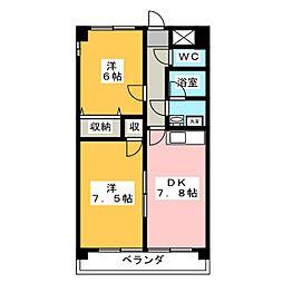 エスト[2階]の間取り